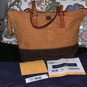 "Dooney & Bourke ""Tobi"" tote; caramel color"